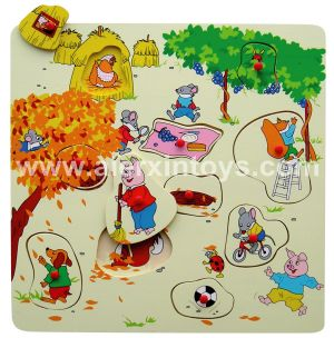Wooden Puzzle Four Seasons