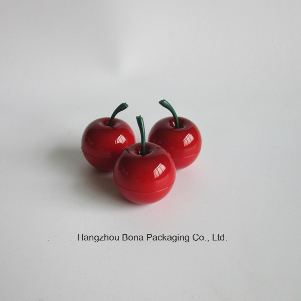 Round Peach Shape Cosmetic Cream Jar Luxury Colorful Fruit Shape Packaging