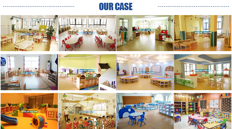Wood Children Round Table and Chairs for Early Childhood Centre