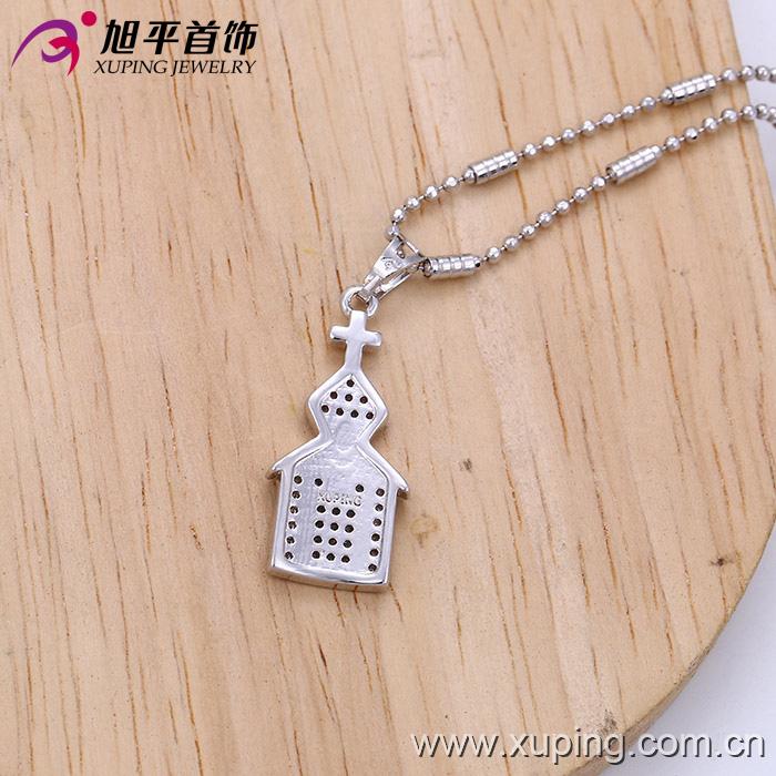 32220 Fashion Elegant Rhodium Imitation Jewelry Chain Pendant in Alloy Copper