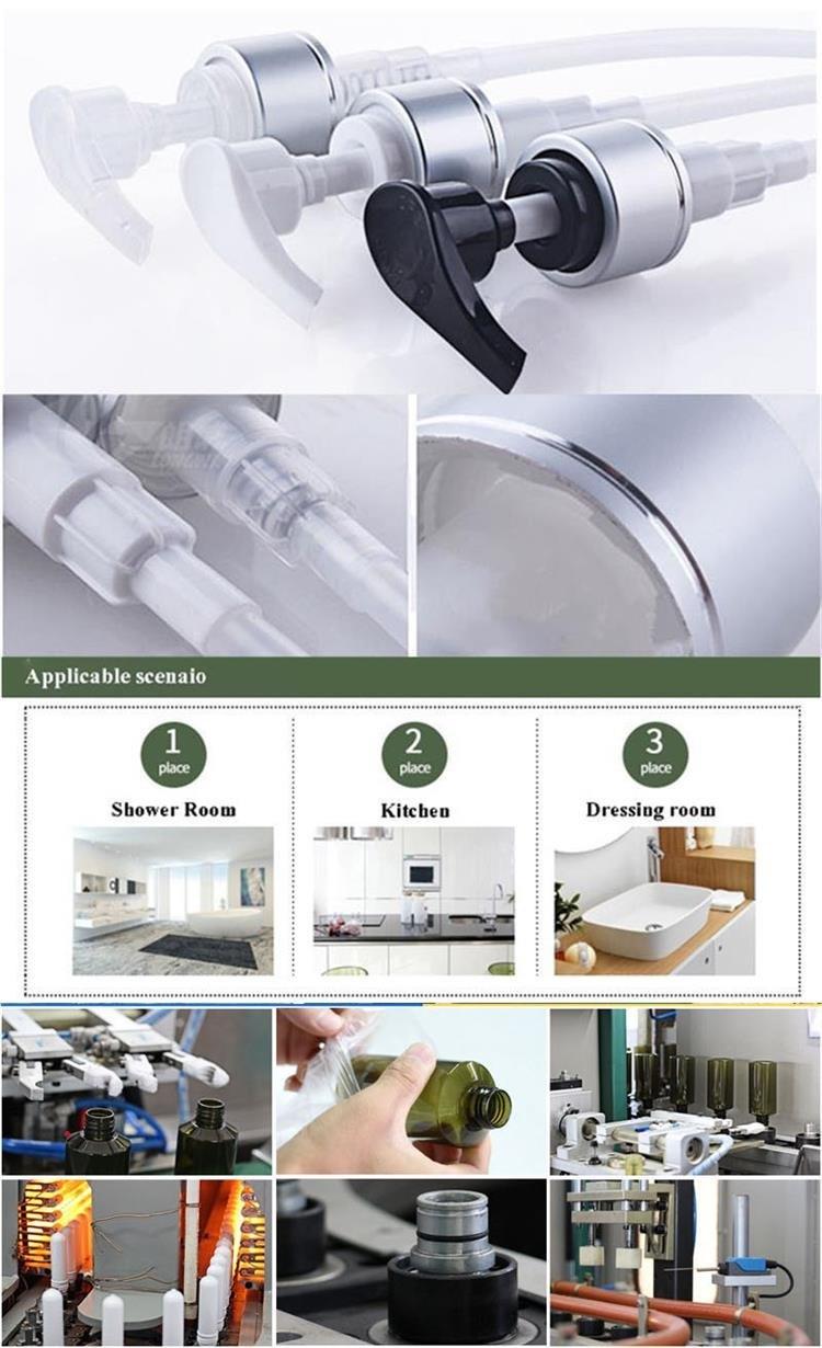 Quadrangular Plastic Lotion Bottle for Perfume (NB18905)