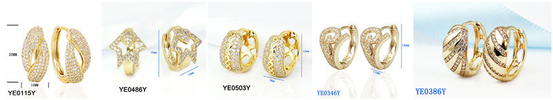 Fashion Earring Brass Jewellery Hoop Earrings Factory Wholesale Cheap Price
