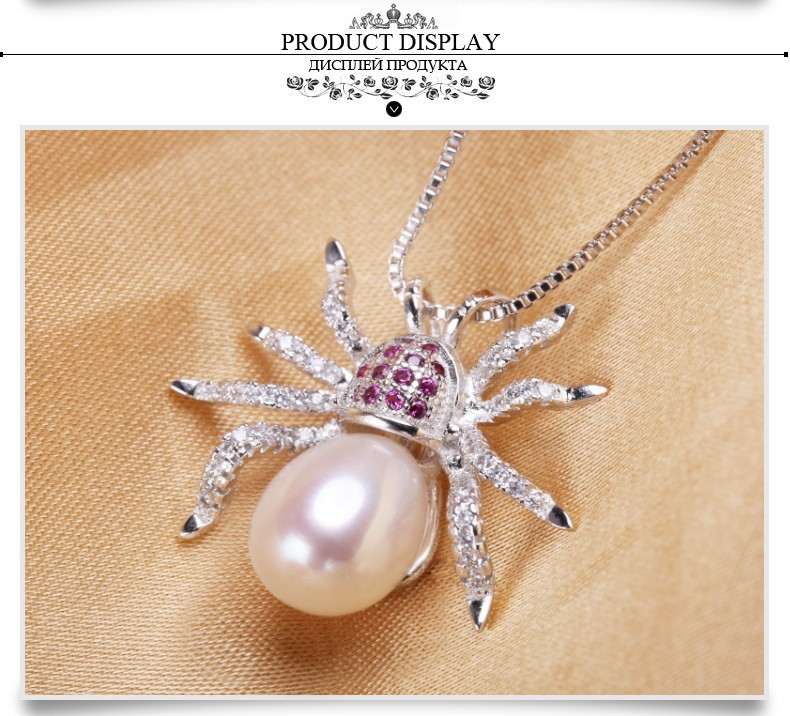 Freshwater Fashion 8-9mm AAA Drop Pendant Animal Culture Shaped Pearl Pendant