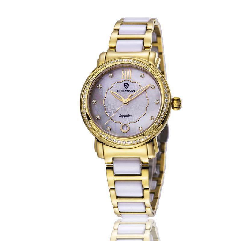 Fashion Diamond Quartz Stainless steel Ladies Wrist Watch
