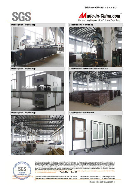 Customized UPVC/PVC Profile Plastic Window/Sliding Window