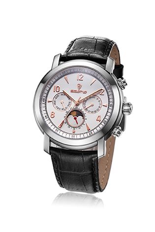 Multifunctional Leather Strap Classic Men Wrist Watch