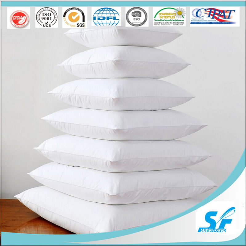 Square Flame Retardant Cotton Goose Duck Feather Cushion Insert