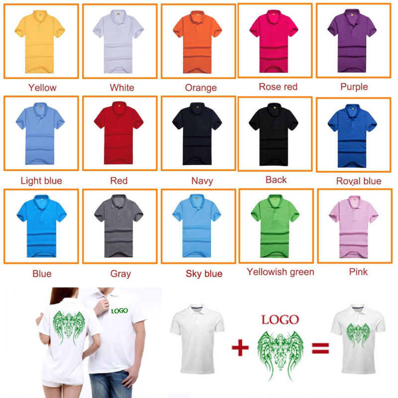 Custom Printed Your Logo Polyester Cheapest Shirt for Promotional