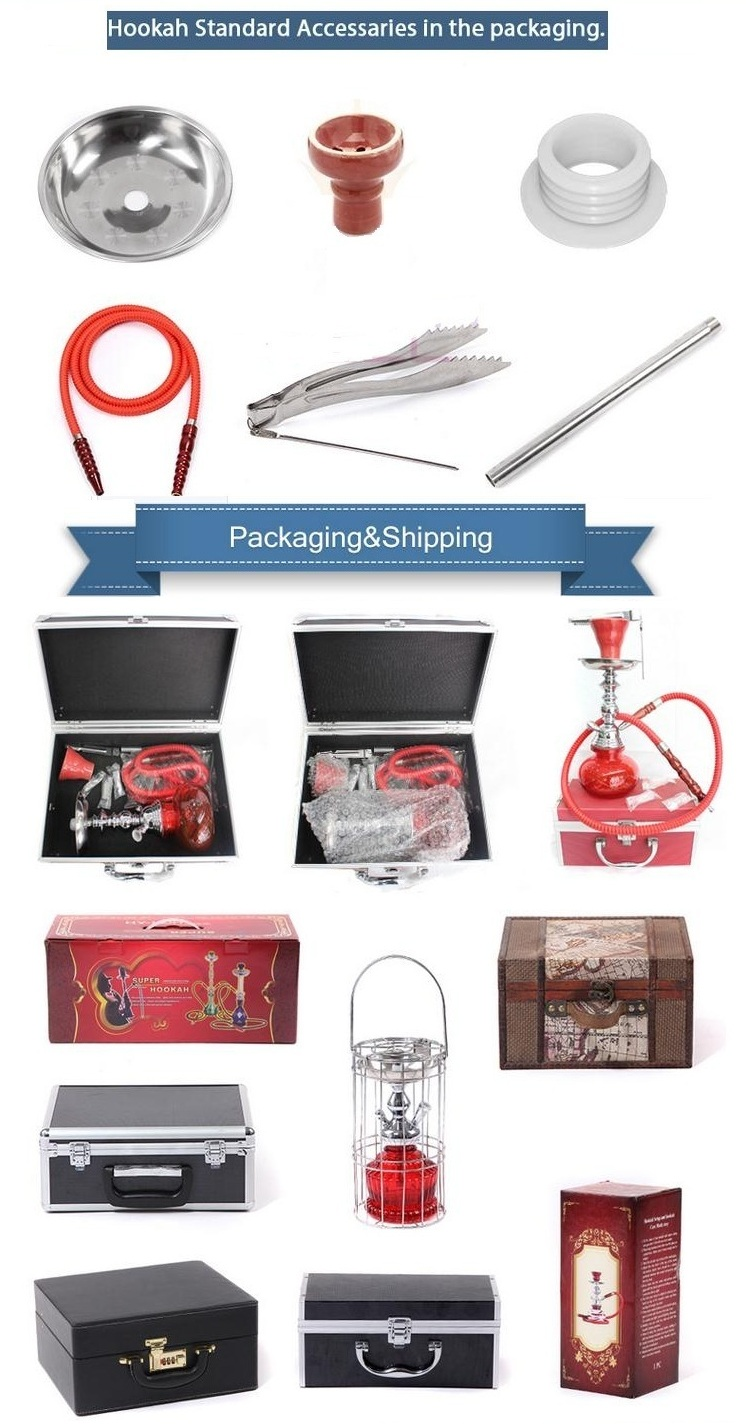 Wholesale High Quality Aluminum Nargile Smoking Pipe Shisha Hookah