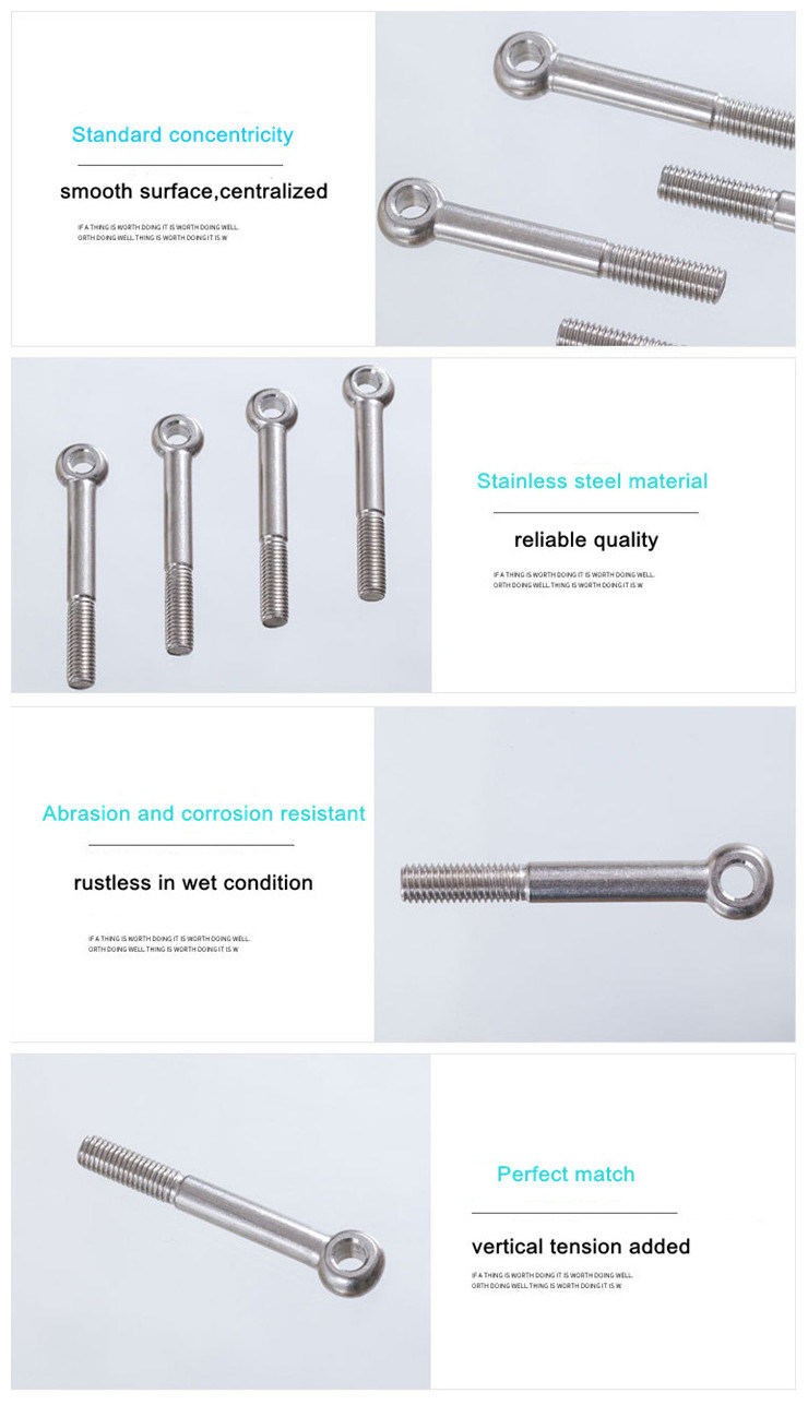 High Quality Stainless Steel Eye Bolts DIN444
