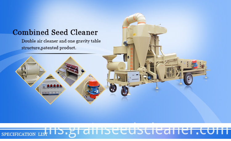 Quinoa seed cleaning machine