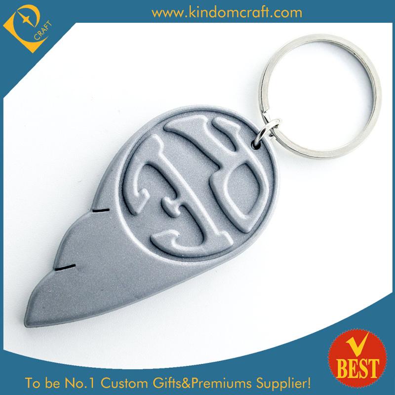 Feshion New Wing Shape Design Custom Soft PVC Keychain