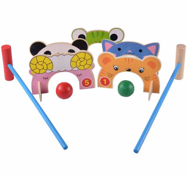 Children Croquet Wood Toy