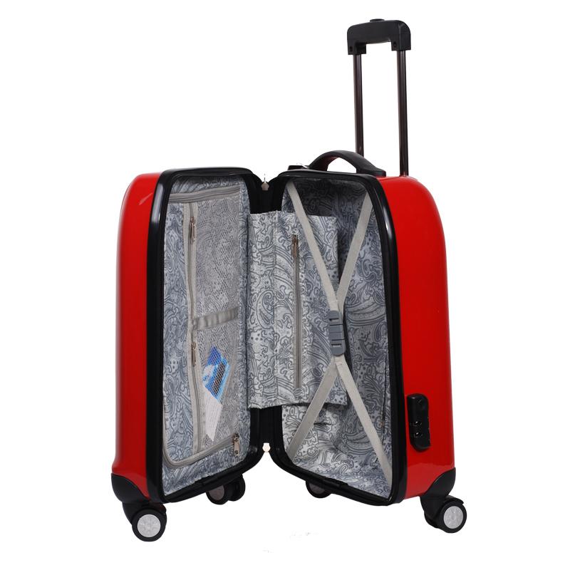 Fashion and Elegant 100% PC Trolley Case, 8 Wheels Pch-B-19