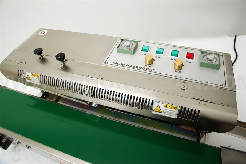 CBS980 Continuous Aluminum Foil Sealing Machine for Pouch