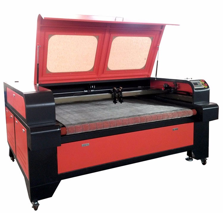Profesional Saiz Besar Kulit Fabrik Tekstil CO2 Laser Cutting Machine