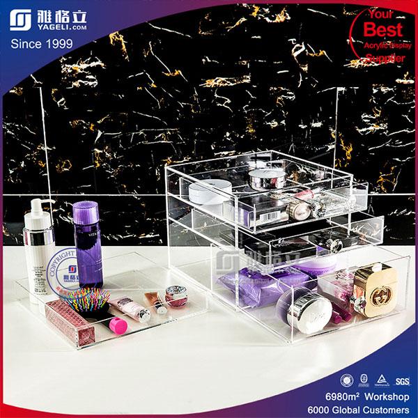 4 Drawer Acrylic Makeup Organizer, Lucite cosmetic Organizer