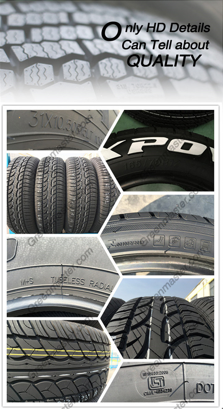 Rubber Tyre, High Quality Tyre, Tyre Wholesale 255/70r15 235/60r16 215/65r16