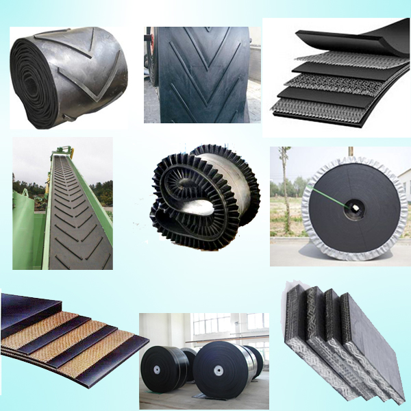Profiled Chevron Cleated Conveyor Belts for Sandpit, Grain, Fertilizers, Wood Chip