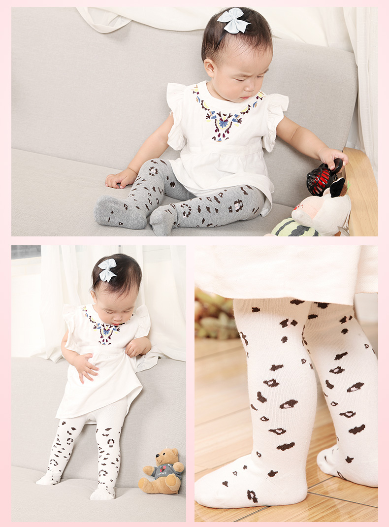 Fashion Leopard Cotton Tights for Little Girl
