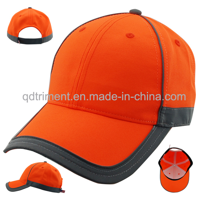 Safety Reflective 100% Polyester Fabric Custom Baseball Cap (TMB0682-1)