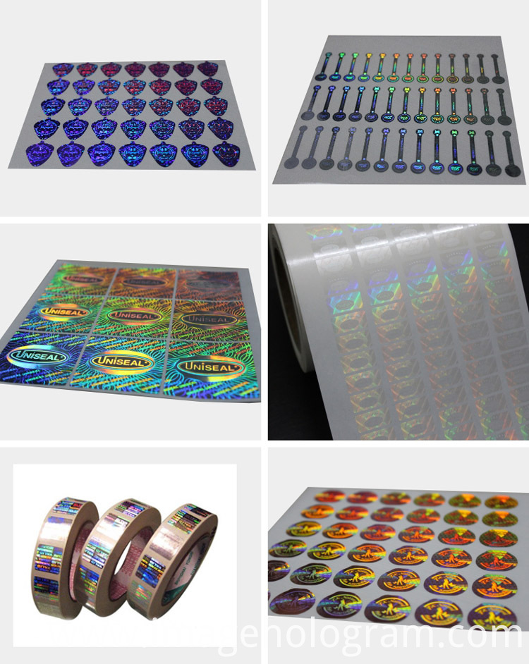 High Quality Security 3D Laser Hologram Sticker