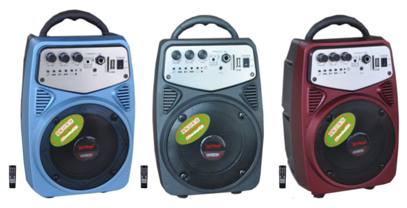 Portable Speaker with SD Card Slot and HiFi Bass Vibration Speaker for Outside Using Q2