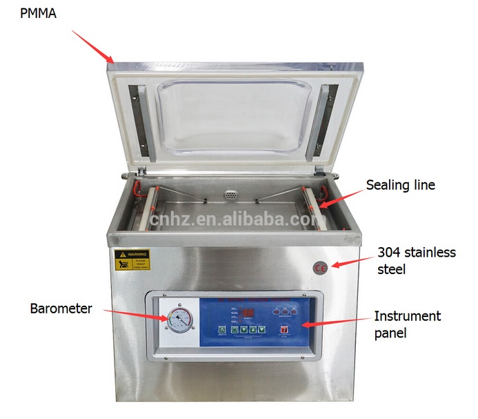 Concave Board Single Chamber Vacuum Machine for Food Packing