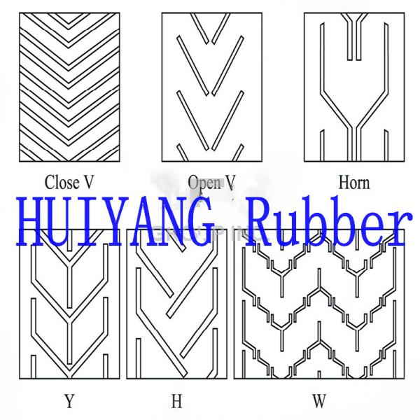Chevron Pattern V Rubber Conveyor Belt Price Used in Industrial
