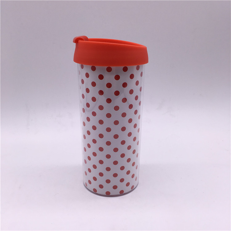 Double Wall Plastic Travel Mug, Auto Mug, Stainless Steel Coffee Mixing Cup Self Stirring Mug