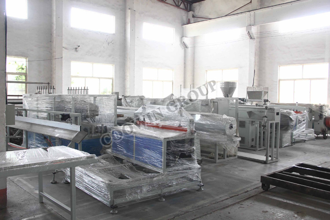 Sjsz Conical WPC Profile Double Screw Extruder