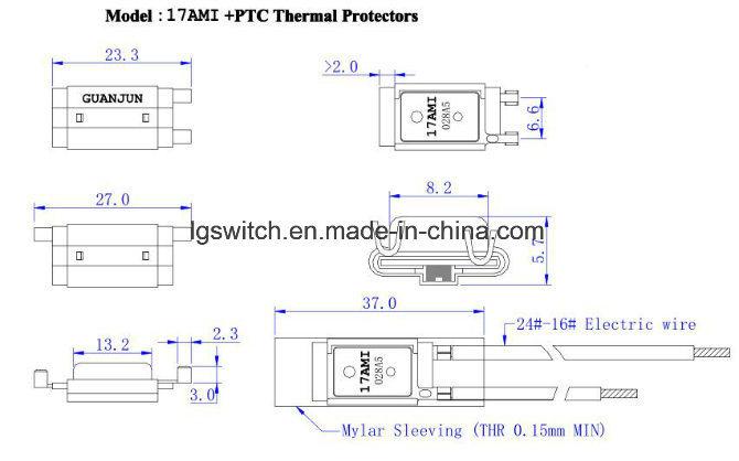 Motors Thermal Protector TUV 20A Normally Closed Temperature Fuse