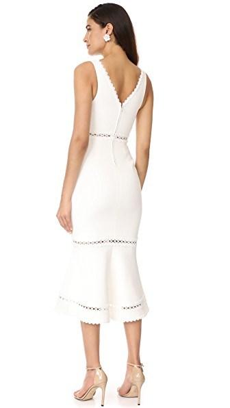 Deep V-Neck Bandage Dress in Medium Length