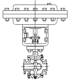 Pneumatic Double Seated Pressure Regulating Valve (GAZJHN)