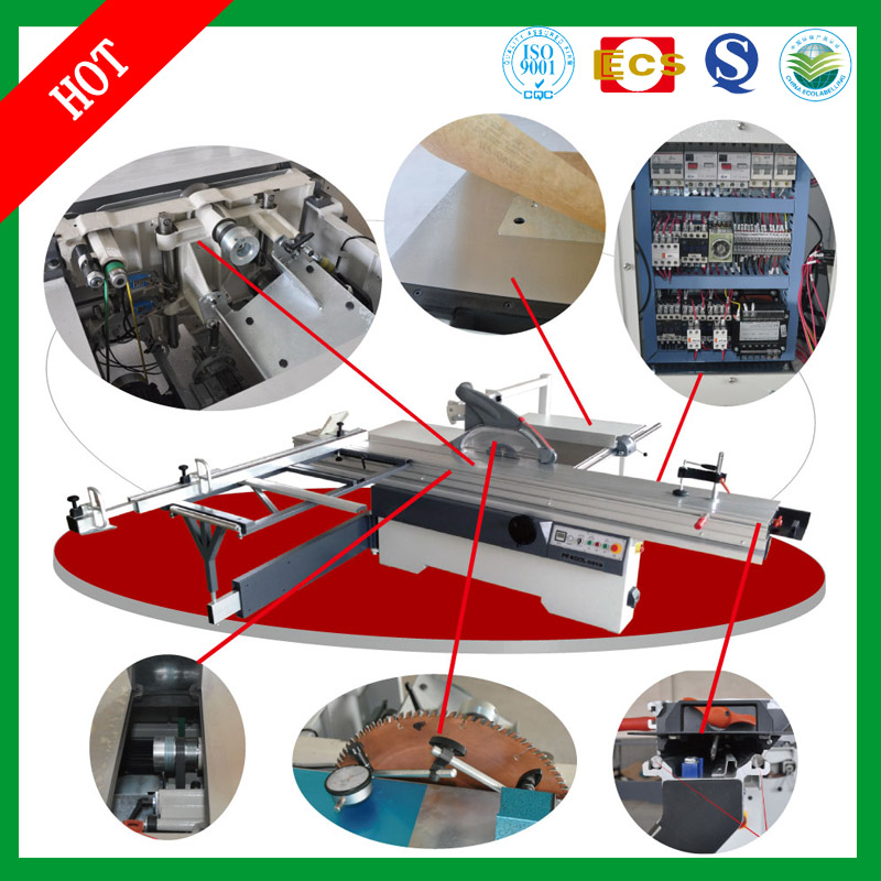 High Quality Woodworking Machinery Precision Sliding Table Panel Saw