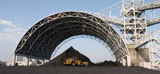 Grid Structure Steel Frame Structure Space Frame System Coal Storage Shed