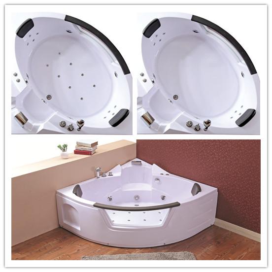 Nice Design Massage Corner Bathtub with Glass (TLP-632 pneumatic control)