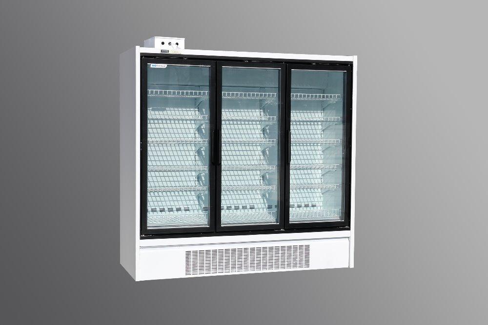 glass door freezer