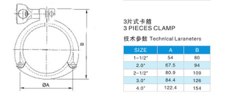 Sanitary Stainless Steel Heavy Duty Pipe Clamps Tri Clover Clamps