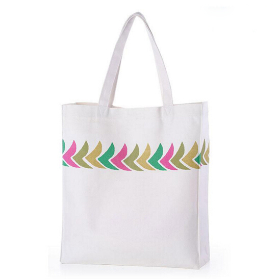 Promotion Wholesale Cotton Hand Bags Women Canvas Beach Tote Bag