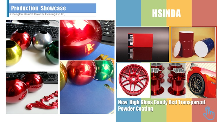 New High Gloss Candy Red Transparent Powder Coating