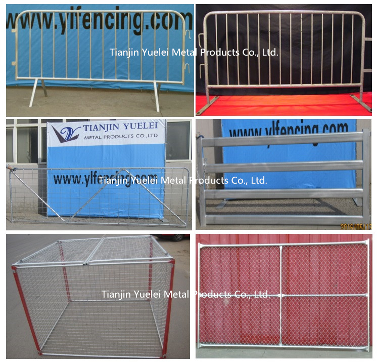 6FT X 4FT Hot Dipped Galvanized Crowd Control Barriers with Fixed Feet/Crowd Control Barrier at Airport/Galvanized or PVC Coated Crowd Control Barrier