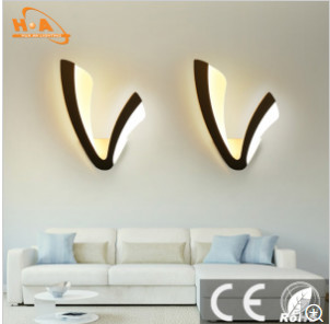 Fantasy Acrylic Material V Shaped Cafe Wall Lamp