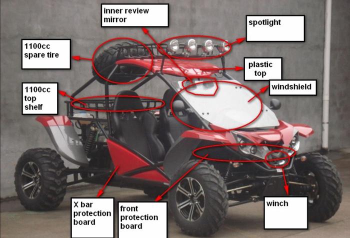 New 1100cc 4X4 Gas Powered Go Kart