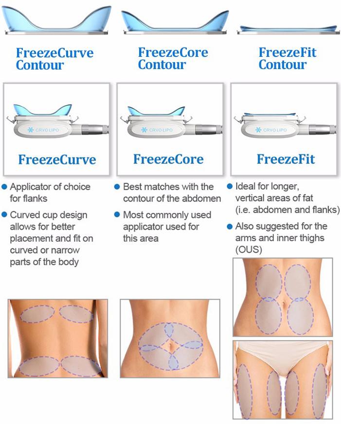 Cool Advantage Cryolipolysis Handles Cool Sculpting Fat Freezing Body Slimming Machine
