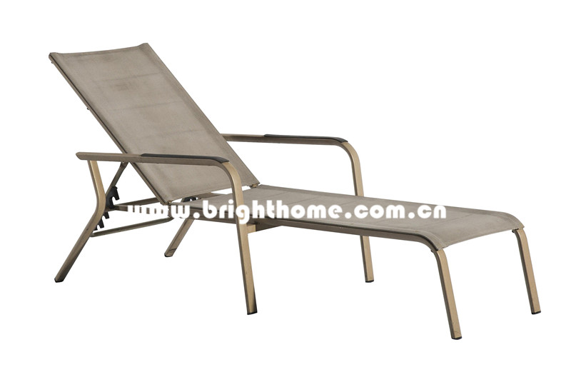 Sun Lounger in Textilne for Outdoor Use