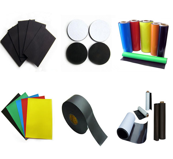 Colorfull Isotropic Flexible Soft Roll Rubber Magnet with PVC Adhesive