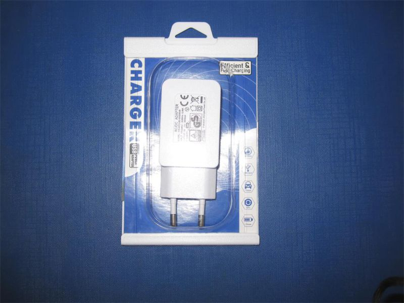 Hot Sales USB Charger Blister Packing EU Us Type and Travel USB Charger