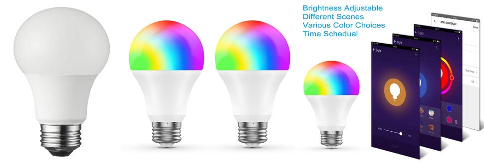 Alexa Voice Controlled RGBW WiFi Smart LED Light Bulb