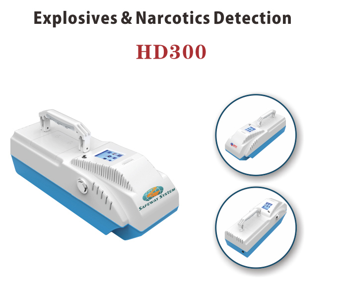Portable Explosive Drug Detector for Safety and Security Use